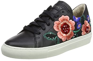 Skechers Damen Vaso-Flor Sneaker  365 EUSchwarz (Black Leather)