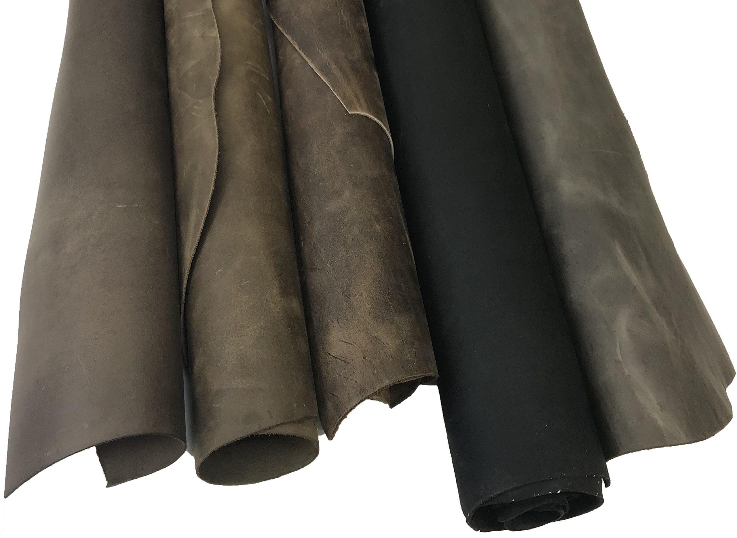 SLC's Assorted Oil Tan Leather Pieces 8-9sqft