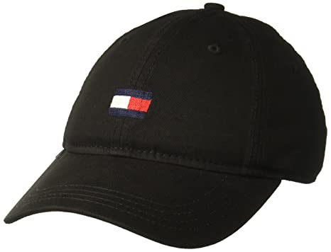 62794ad4 Tommy Hilfiger Men's Ardin Dad Hat, Black, One Size at Amazon Men's ...