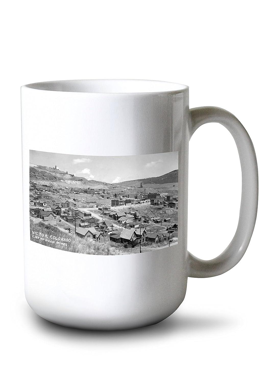 Victor、コロラド – General view of city of gold mines写真 15oz Mug LANT-3P-15OZ-WHT-32082 B0784LMQ8H  15oz Mug