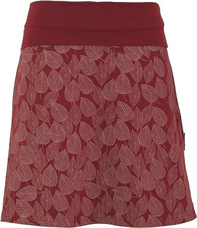 GURU-SHOP, Mini Falda, Falda Boho Plate Skirt Autumn Leaves Print ...