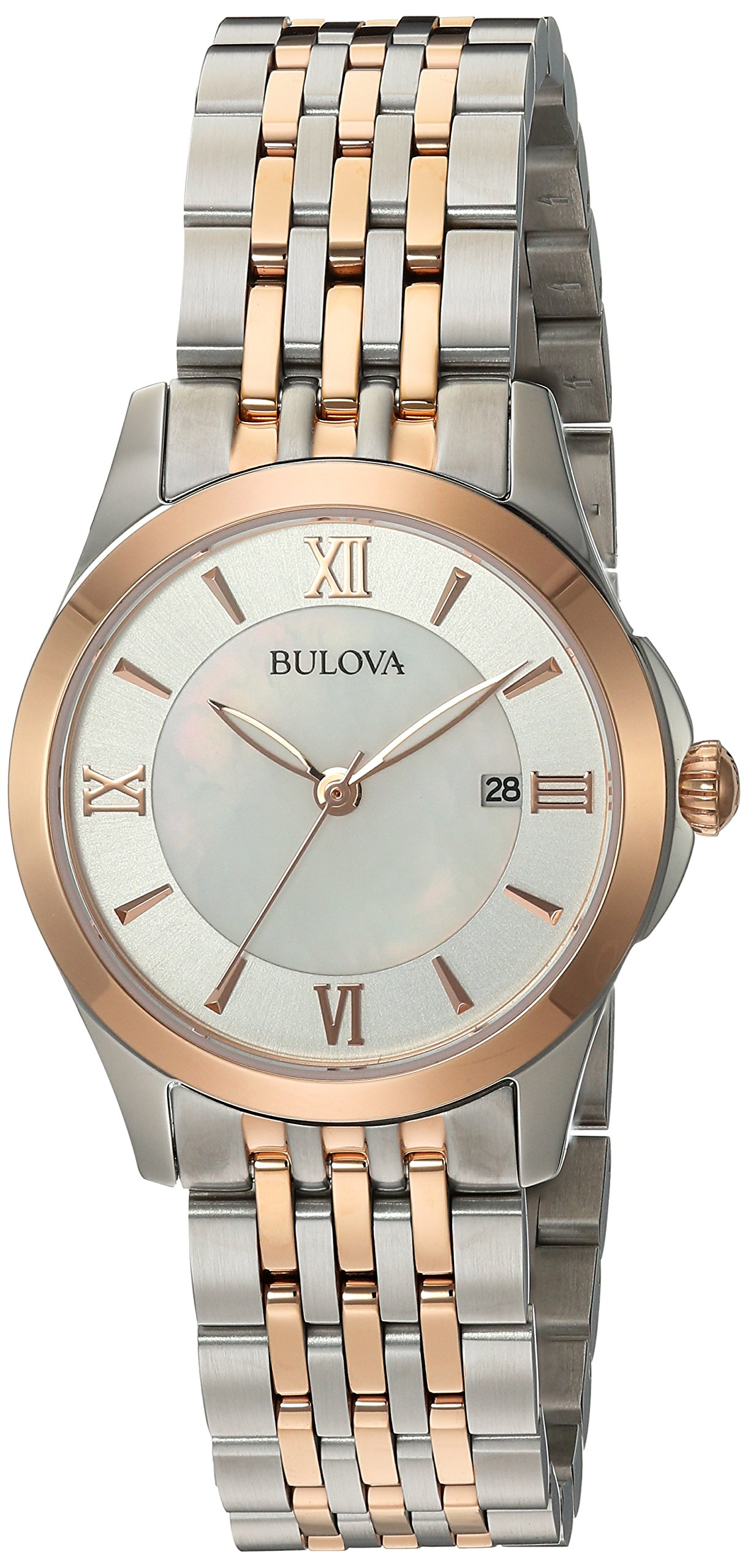 Bulova Women's Quartz Stainless Steel Casual WatchMulti Color (Model: 98M125)
