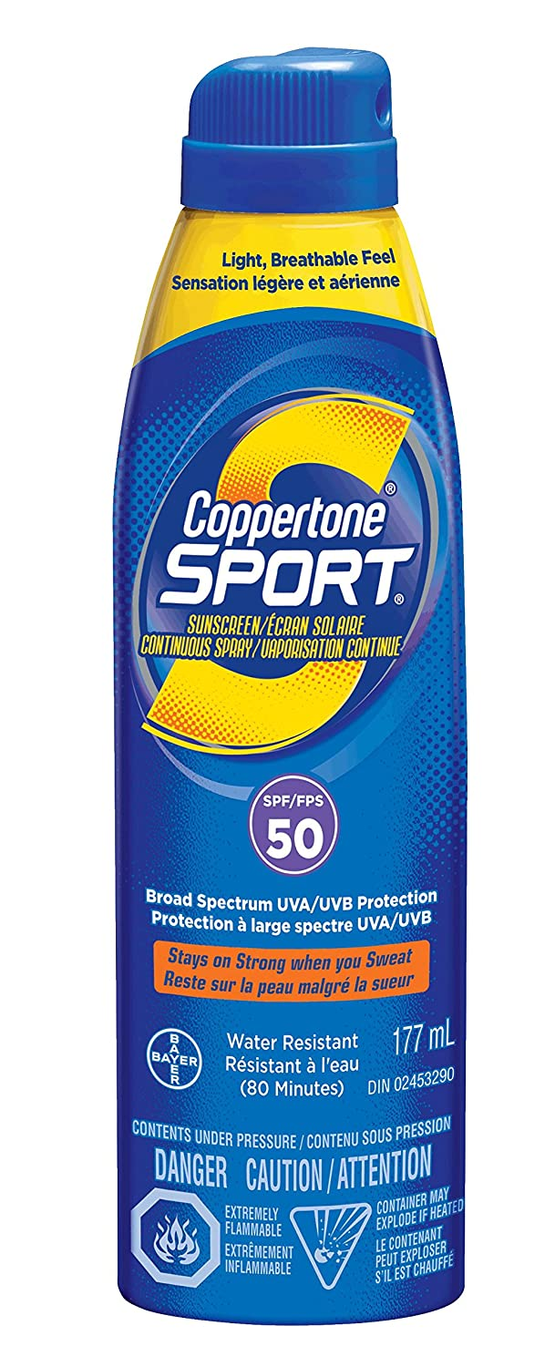 Coppertone Sport Clear Continuous Spray Sunscreen Spf50 0.45-Pounds