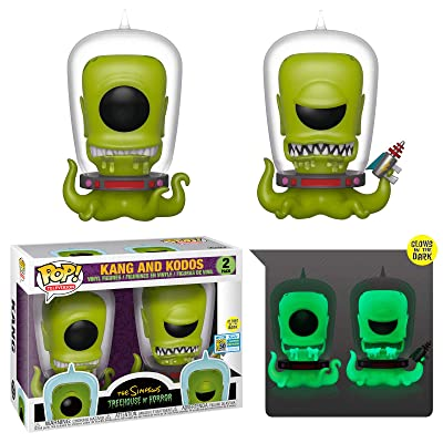 Funko Pop! Simpsons Treehouse of Horror Kang and Kodos Exclusive 2 Pack Shared Sticker Summer Convention Exclusive SDCC: Toys & Games
