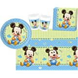 Procos 10108563B Kinderpartyset Disney Baby Mickey, Größe S, 37 teilig