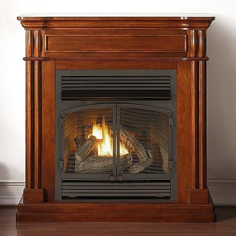 Sensational Duluth Forge Vent Free 32 000 Btu Remote Control Autumn Spice Finish Dual Fuel Fireplace Download Free Architecture Designs Scobabritishbridgeorg