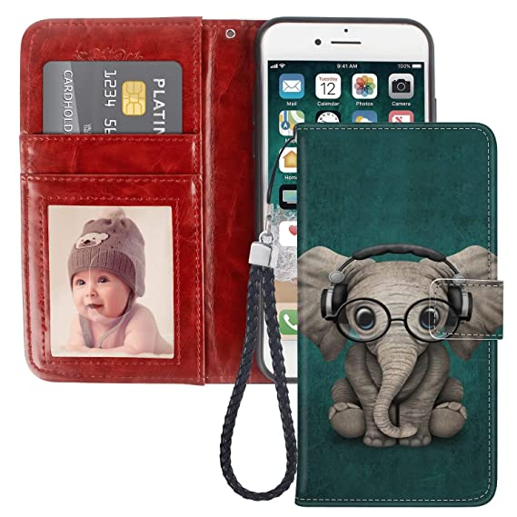 amazon com jqlove apple iphone 6 6s plus wallet phone case, cute
