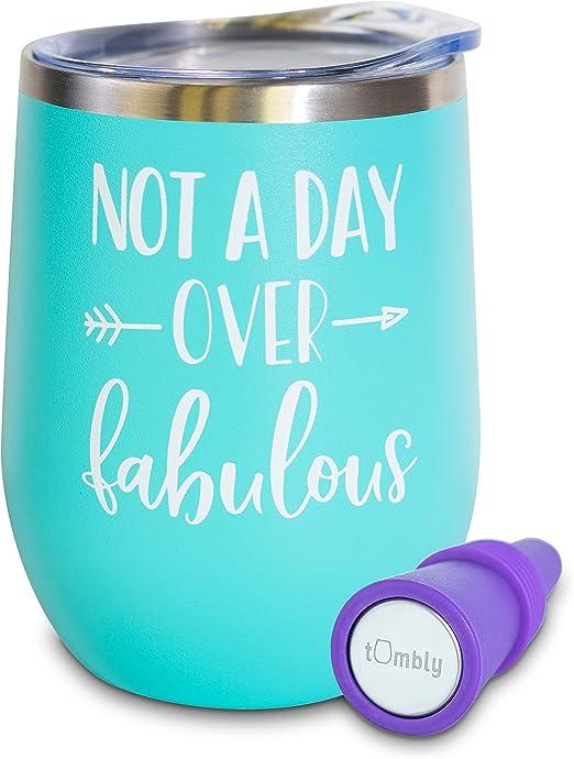 Amazon.com: Vaso de vino no un día sobre fabuloso – vaso de ...