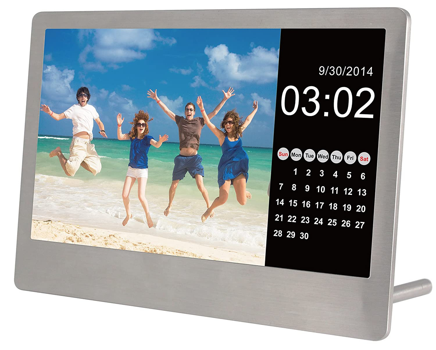 amazoncom sylvania sdpf7977 7 inch stainless steel digital photo frame stainless steel camera photo