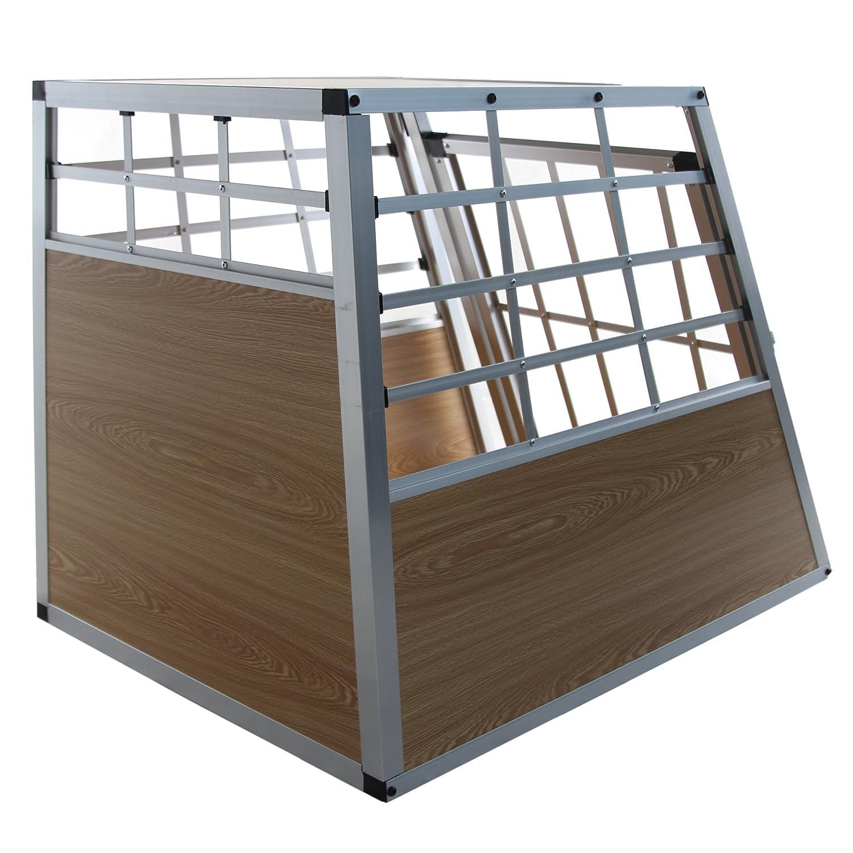 Jalano Hundetransportbox XL Auto Gitterbox gro/ße Hunde Alu Hundebox Kofferraum