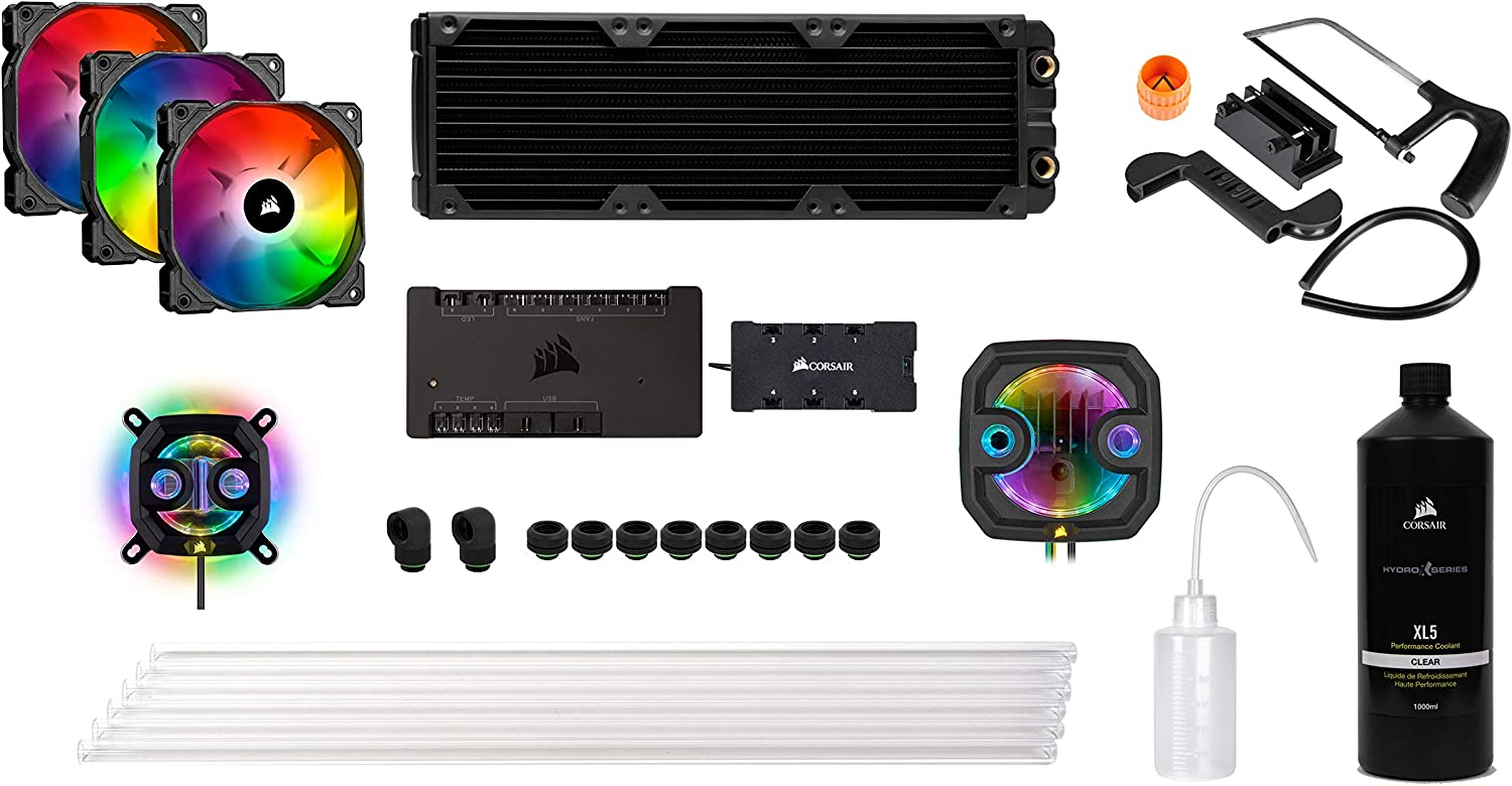 B. CORSAIR Hydro X Series XH303i Hardline Water Cooling kit with/incl XC7 CPU Water Block, XR5 360mm Radiator, XD3 Pump Res and iCUE SP120 RGB PRO Fans