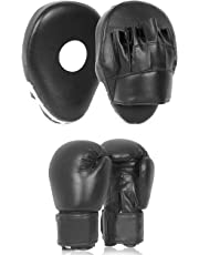 Lions® Kids Curved Focus Pads and Gloves Set Hook & Jabs Junior Punch Bag Mitts Boxing MMA Kick Training