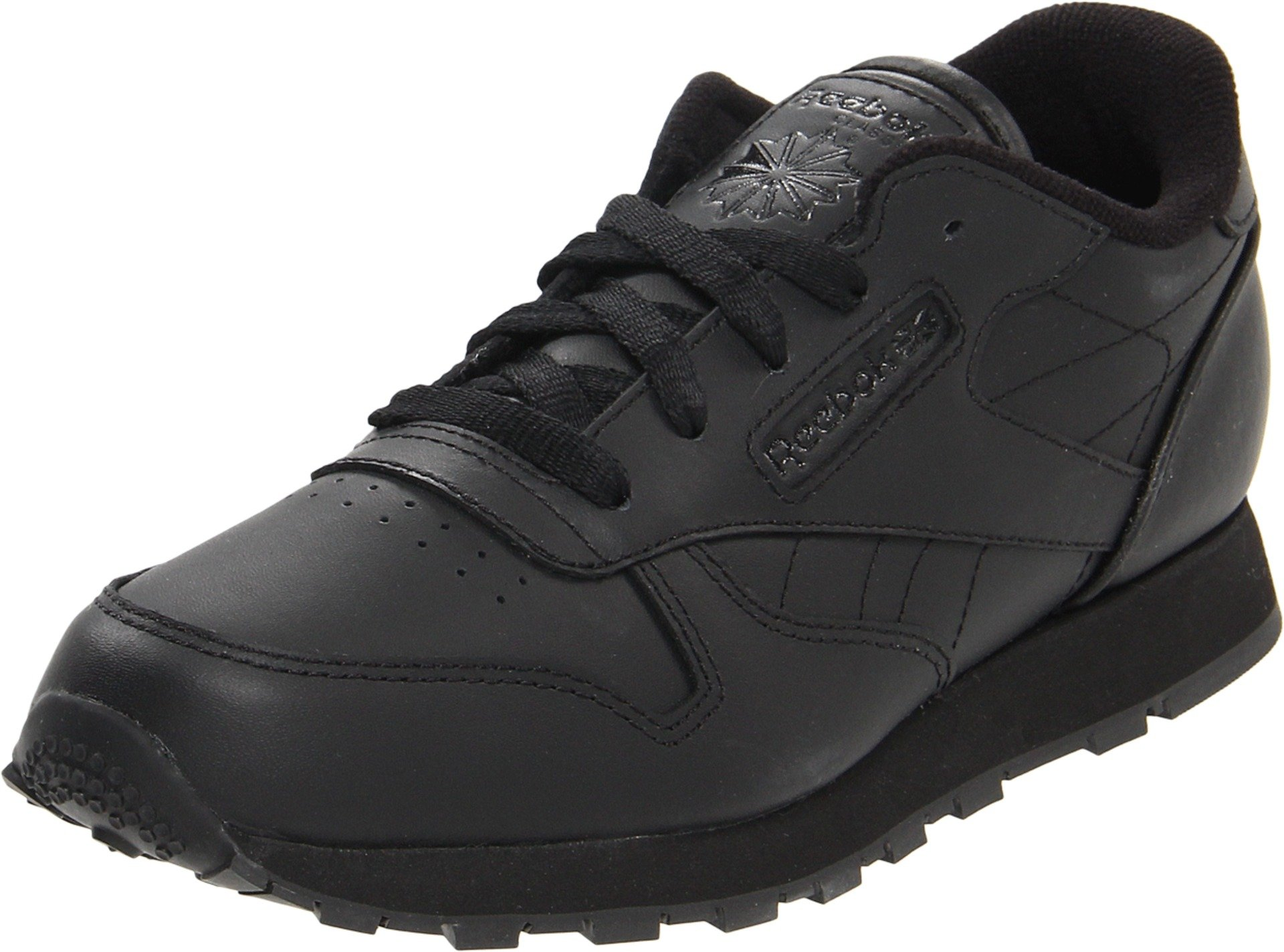 Reebok Classic Leather Shoe,Black/Black/Black,11.5 M US Little Kid by Reebok (Image #1)