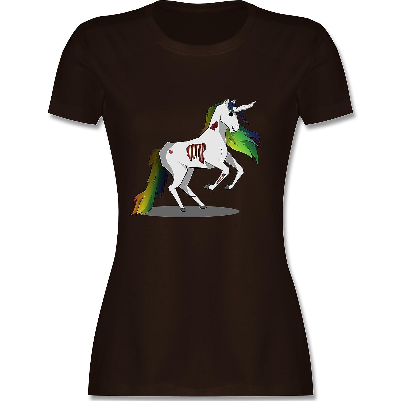 Shirtracer Einhörner - Zombie Einhorn - Damen T-Shirt Rundhals: Shirtracer:  Amazon.de: Bekleidung
