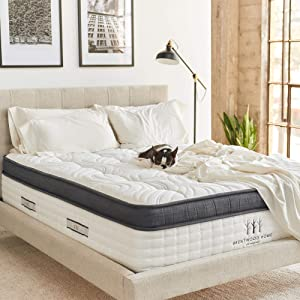 Brentwood Home Oceano Hybrid Innerspring Mattress, Cooling Gel Memory Foam, Non-toxic, Made in California, Twin
