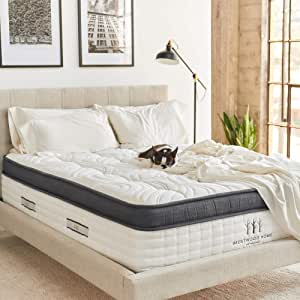 Brentwood Home Oceano Hybrid Innerspring, Cooling Gel Memory Foam, Non-Toxic, Made in California Mattress, King
