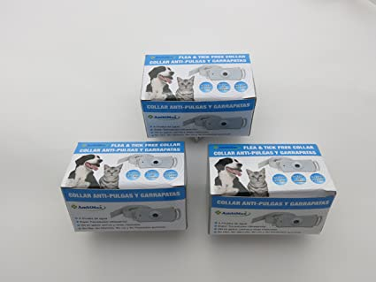 (3 Pack) Flea and Tick Collar. Ultrasonic flea and tick control collar for