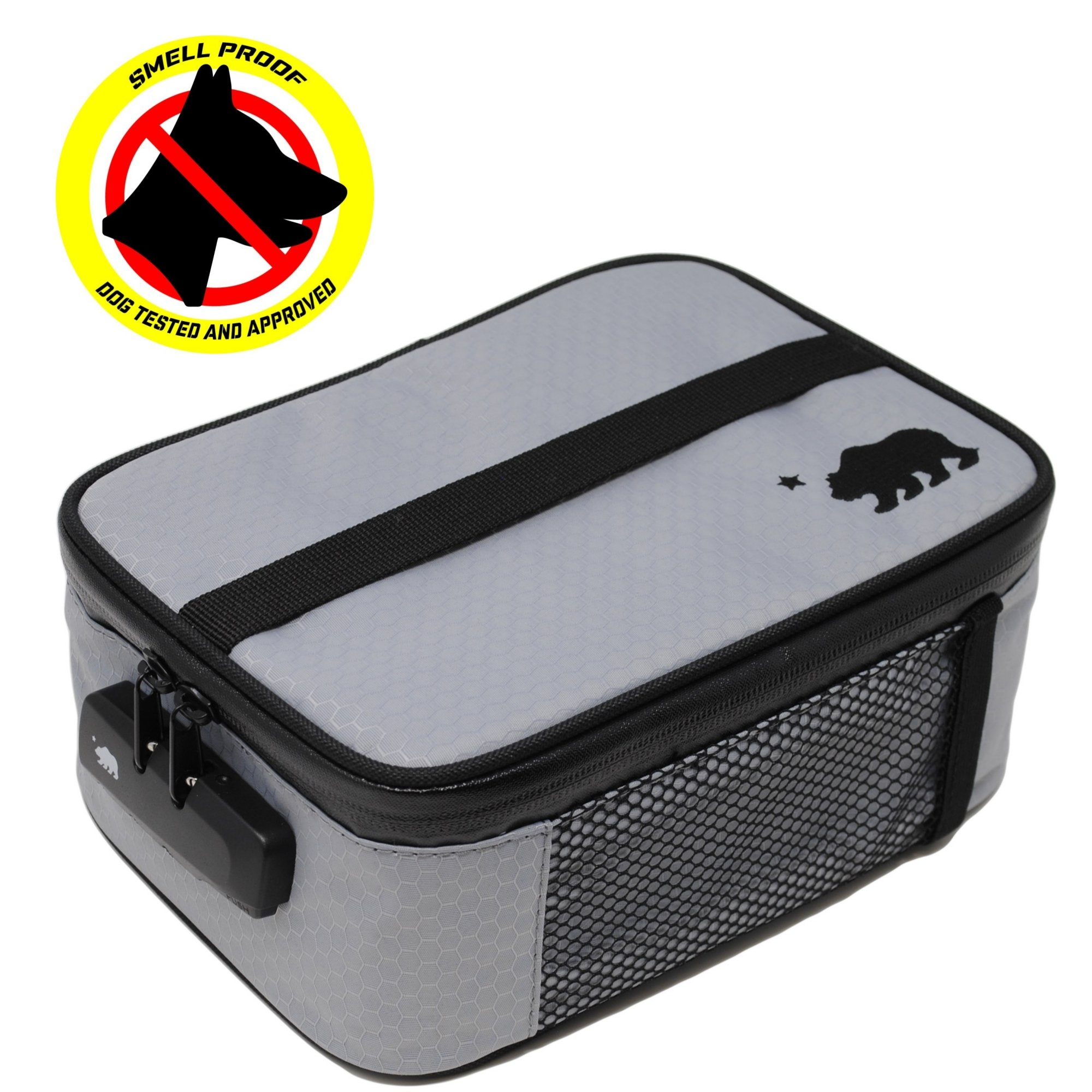 Cali Crusher 100% Smell Proof Soft Case w/Combo Lock (9''x7''x3.5'') (Gray)