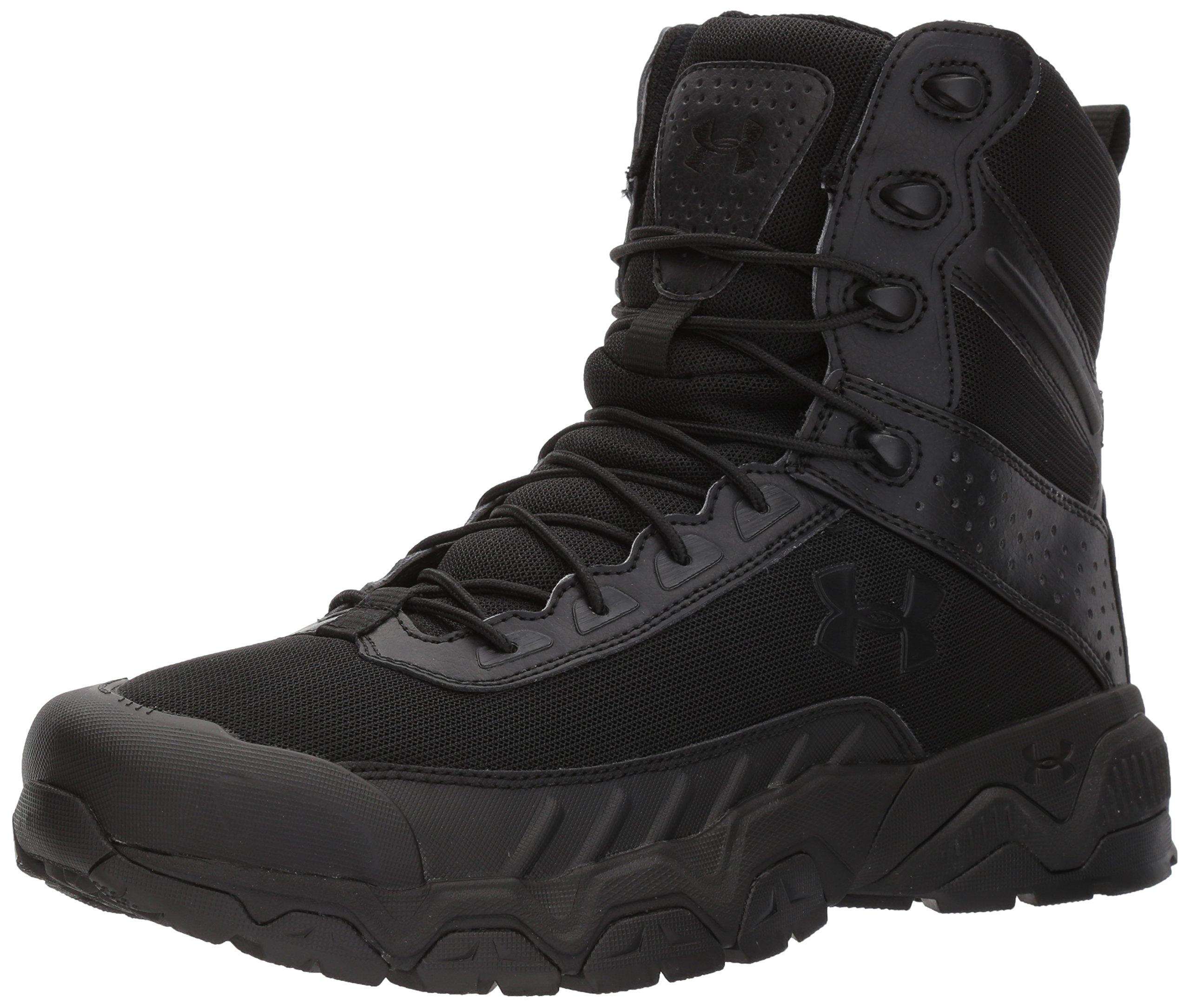 Under Armour Men's Valsetz Military & Tactical Boot Military and Tactical, Black (001)/Black, 11 by Under Armour
