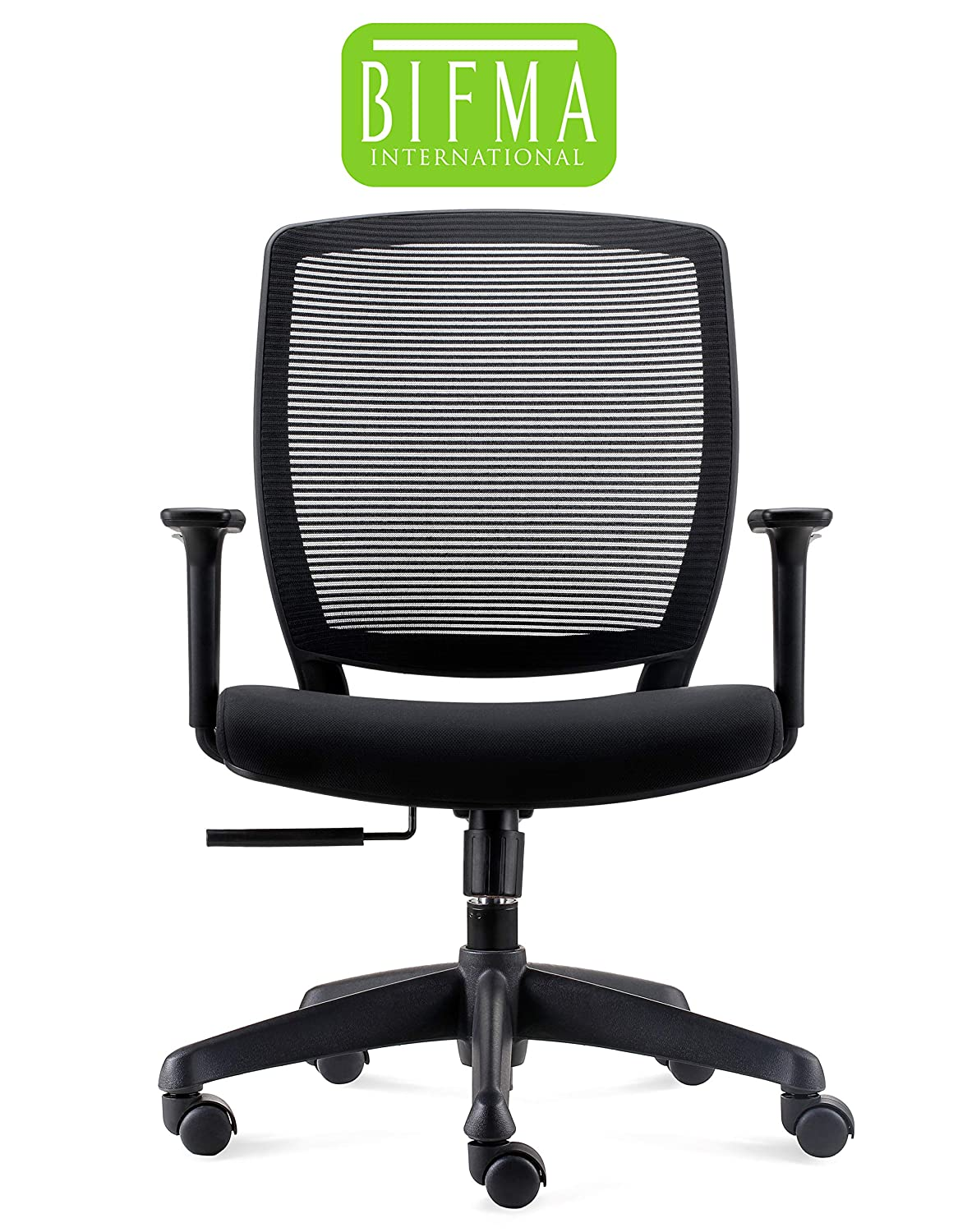 Chairlin Office Chairs Home Office Task Chair Ergonomic Computer Desk Chair Black MF0220B