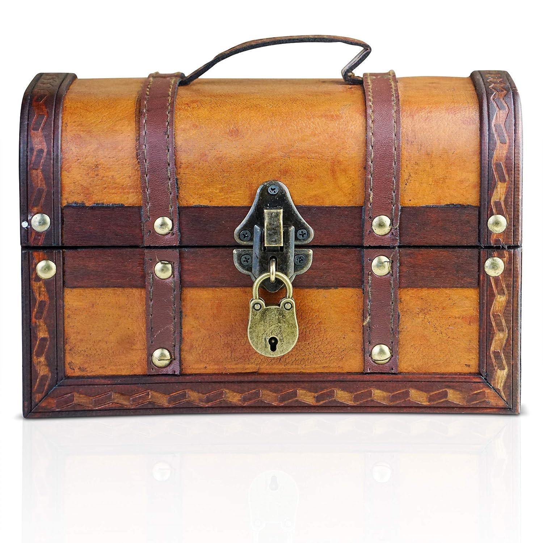 Brynnberg Scrigno del tesoro vintage 22x14x14cm con lucchetto