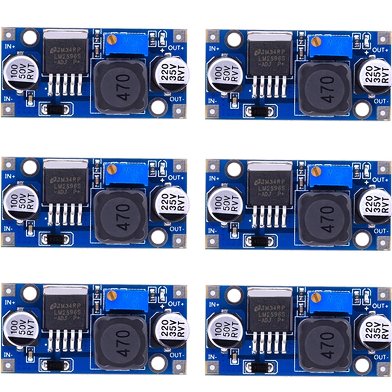 6 pezzi LM2596 DC a DC Buck converter 3.0 –  40 V a 1.5 –  35 V alimentazione step Down modulo eBoot EXPSFD005794