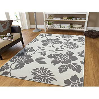 Large 8x11 Grey Modern Rugs With Tree Branches Area Rugs Modern Flowers  Gray U0026 White Abstract Contemporary Rugs 8x10 For Dining Rooms Clearance Sale,  8x11