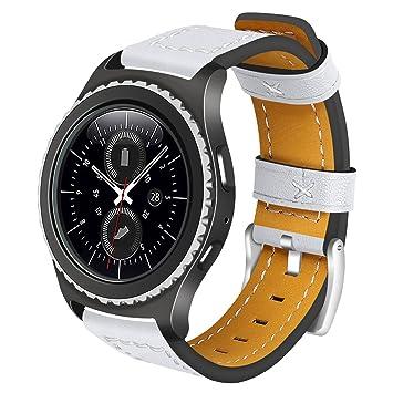 Gear S2 Classic / Gear Correa de piel deportiva AnGolf 20 mm de cuero Smart Watch Band Reemplazo Correa Pulsera para Samsung Gear S2 Classic R732 / ...