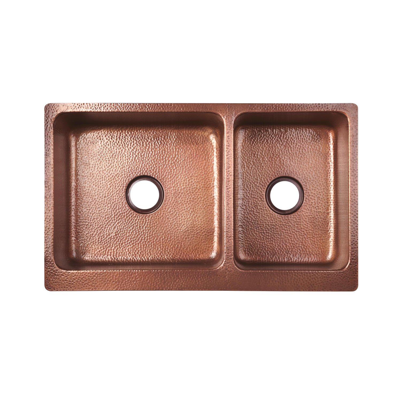 4. Signature Hardware 397527 Tegan Copper Farmhouse Sink