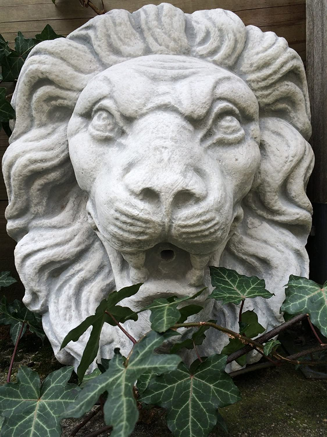 Antikas – Large Sea Lion Head White Lion Fountain Decoration, Gargoyle as antique