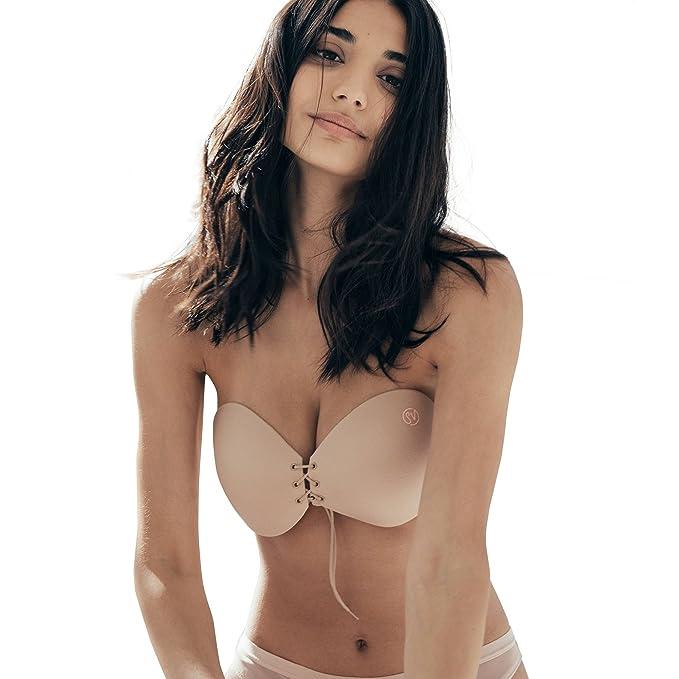 Sneaky Vaunt Sujetador push up - sin espalda, sin tirantes, escote para mujeres A desnudo: Amazon.es: Ropa y accesorios