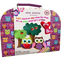 ARTIKA Sewing Kit for Kids, DIY Craft for Kids, The Most Wide-Ranging Kids Sewing Kit, Over 110 Quality Kids Sewing Supplies, Includes a Booklet of Cutting Stencil Shapes for The First Step in Sewing