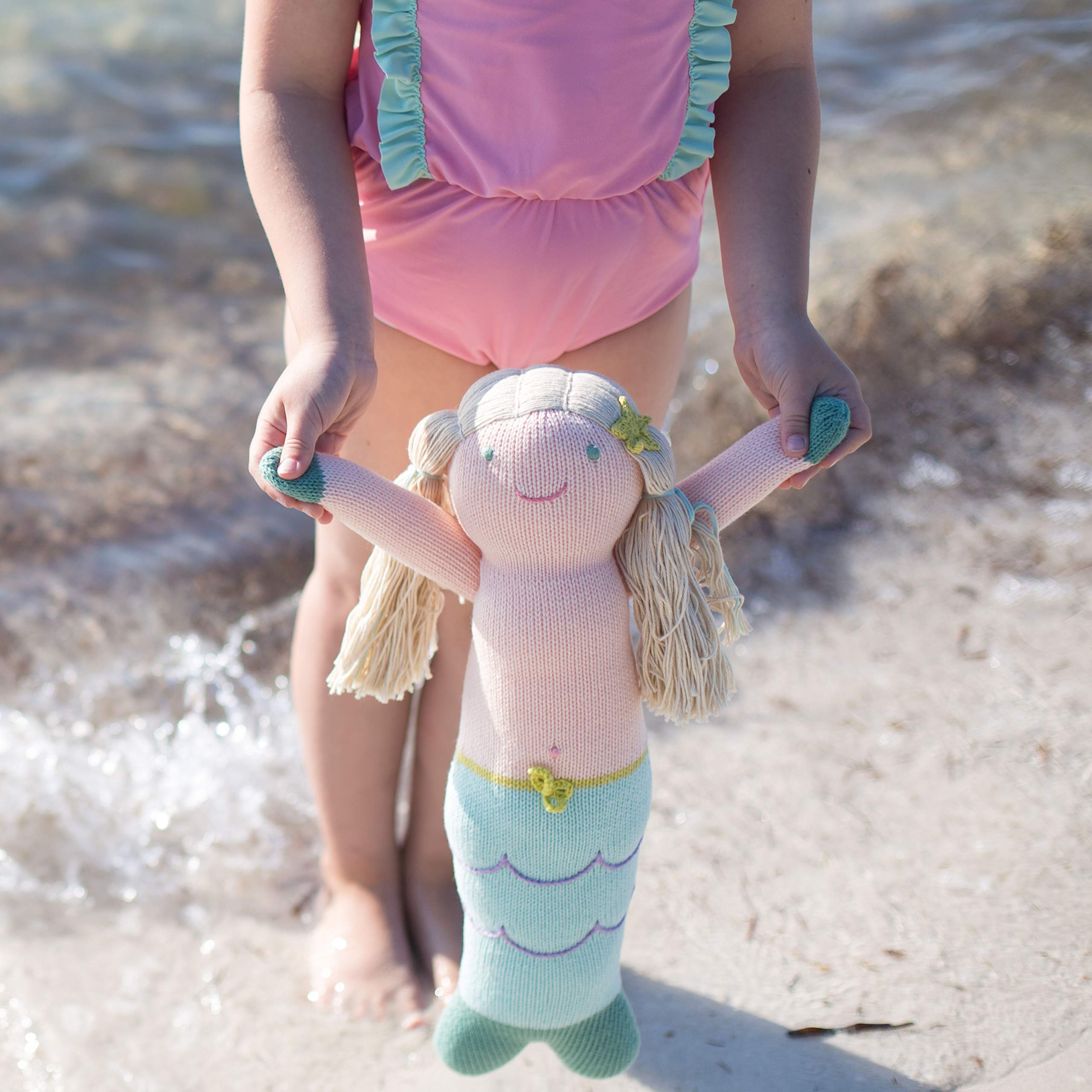 Blabla Harmony The Mermaid Mini Plush Doll - Knit Stuffed Animal for Kids. Cute, Cuddly & Soft Cotton Toy. Perfect, Forever Cherished. Eco-Friendly. Certified Safe & Non-Toxic. by Blabla