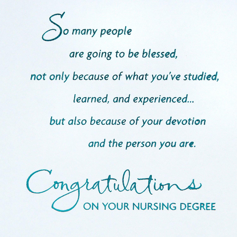 Amazon Hallmark Nursing School Graduation Greeting Card