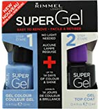 Rimmel supergel polish 052 Blue Babe with gel top coat