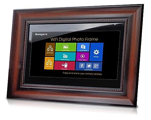 amazoncom sungale ad1501w 14 inch wi fi digital photo frame camera photo - Wifi Digital Frame