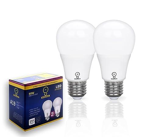 Pack de 2 ESGOALS 8W E27 Bombillas LED, 800 Lumens, 5000K, Luz de