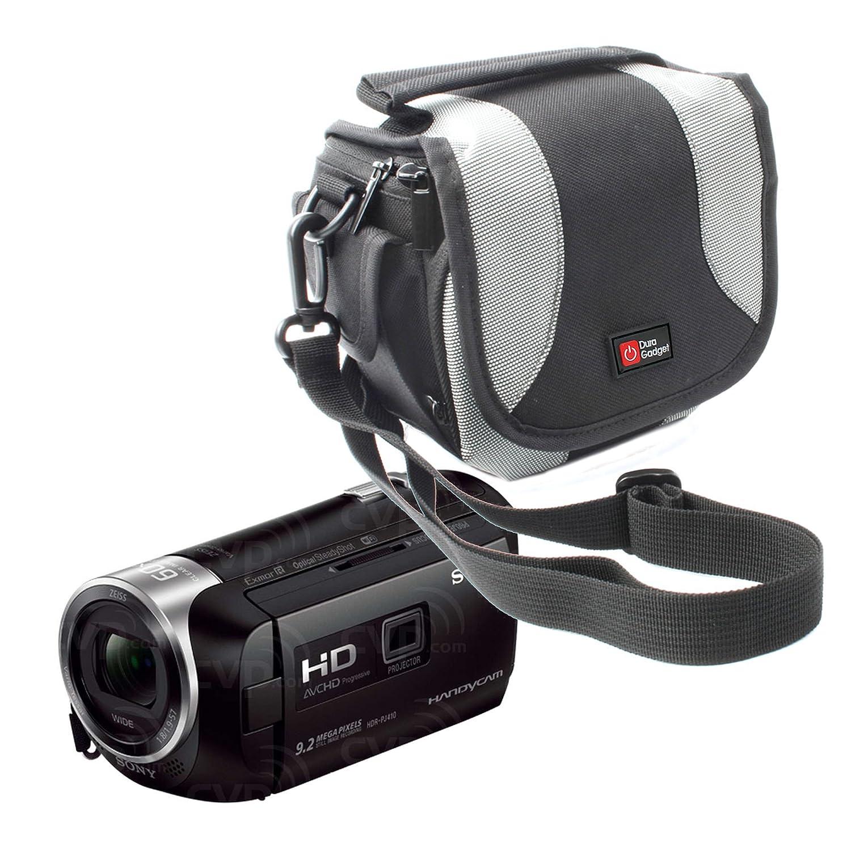 DURAGADGET Housse rembourré e pour Sony HDR-FDR AXP33//-CX405 HDR-PJ410/HDR-PJ620-De transport et sangles avec boucle