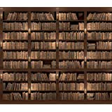 """10.5-Feet wide by 8-Feet high. Prepasted wallpaper full wall size mural from a photo of: Old Book Shelf.. Easy to hang remove and reuse(hang again) If U do as in our video. 126""""W by 96""""H"""