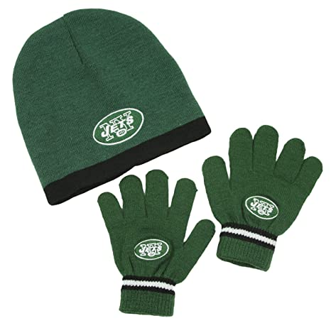 Image Unavailable. Image not available for. Color  New York Jets NFL Little Boys  Knit Hat and Gloves Set ... 1b79aeb5c892