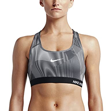 8987e2611532c Nike Womens Pro Classic Padded Frequency Sports Bra - S