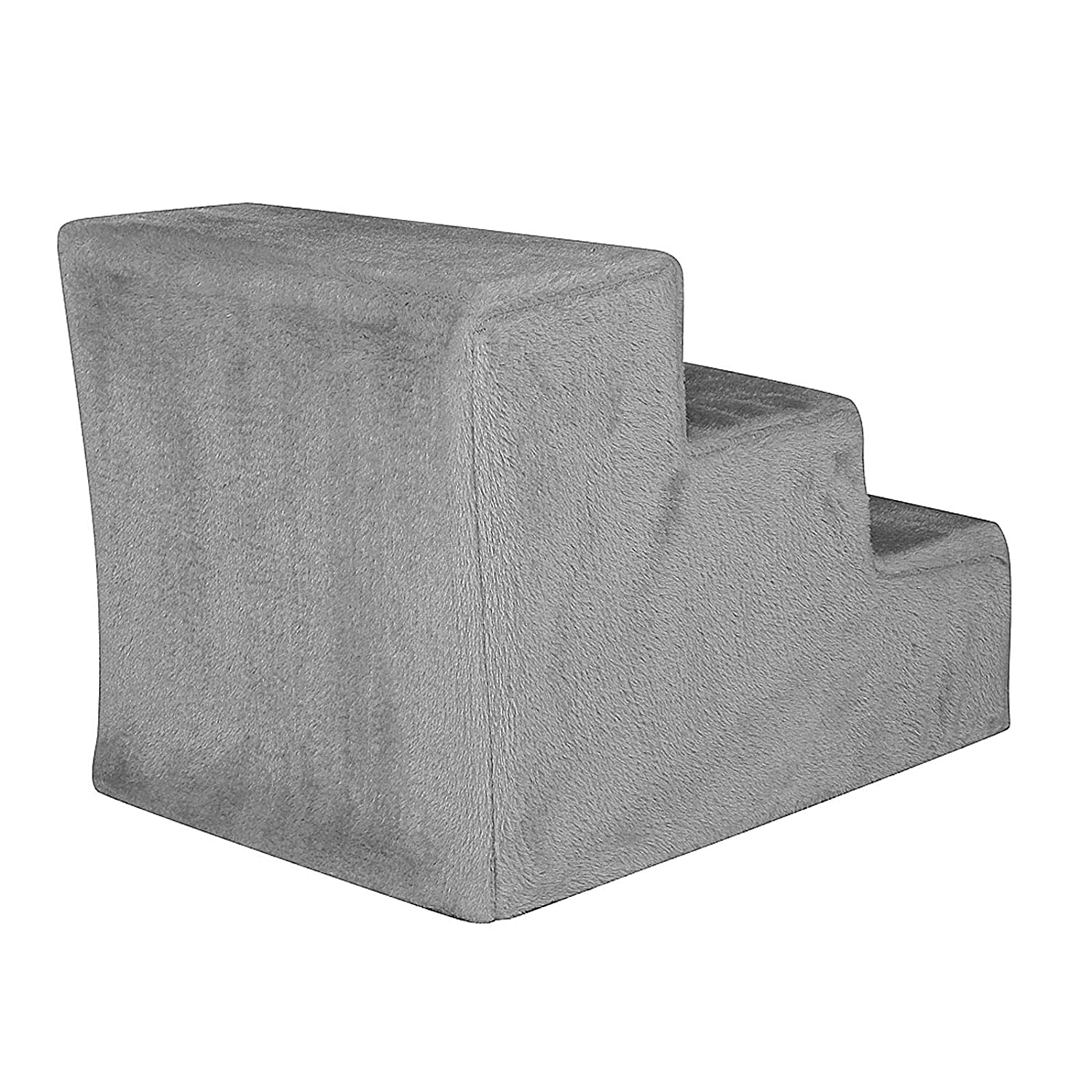 dibea HT00186 Pet Stairs//Cat Stairs with Plush Cover Light Grey//Light Grey