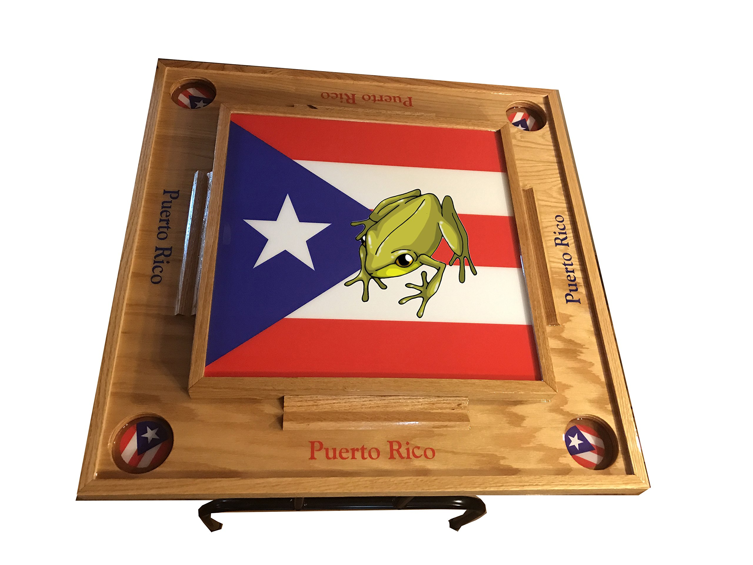 Puerto Rico Domino Table Full fag coqui (Natural)