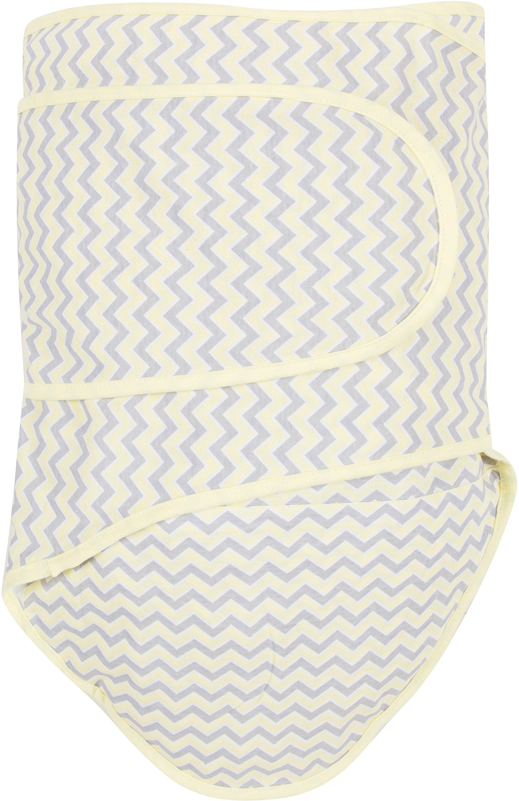 Miracle Blanket Swaddle, Chevrons with Yellow Trim