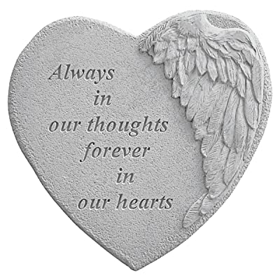 Kay Berry 8905 Winged Heart Always in Our Thoughts… Decorative Stone, Multicolor: Home & Kitchen
