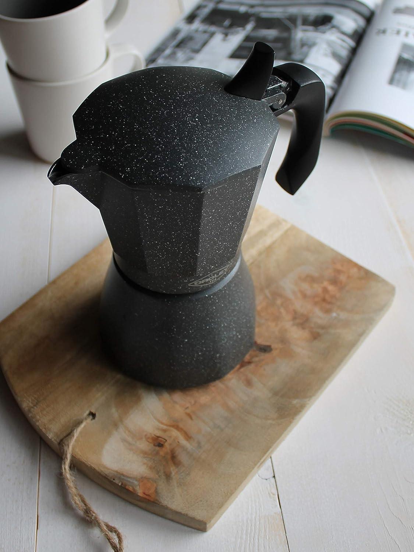 Oroley - Cafetera Italiana Petra | Base de Acero Inoxidable | 9 Tazas | Cafetera Inducción, Vitrocerámica, Fuego y Gas | Estilo Tradicional: Amazon.es: Hogar