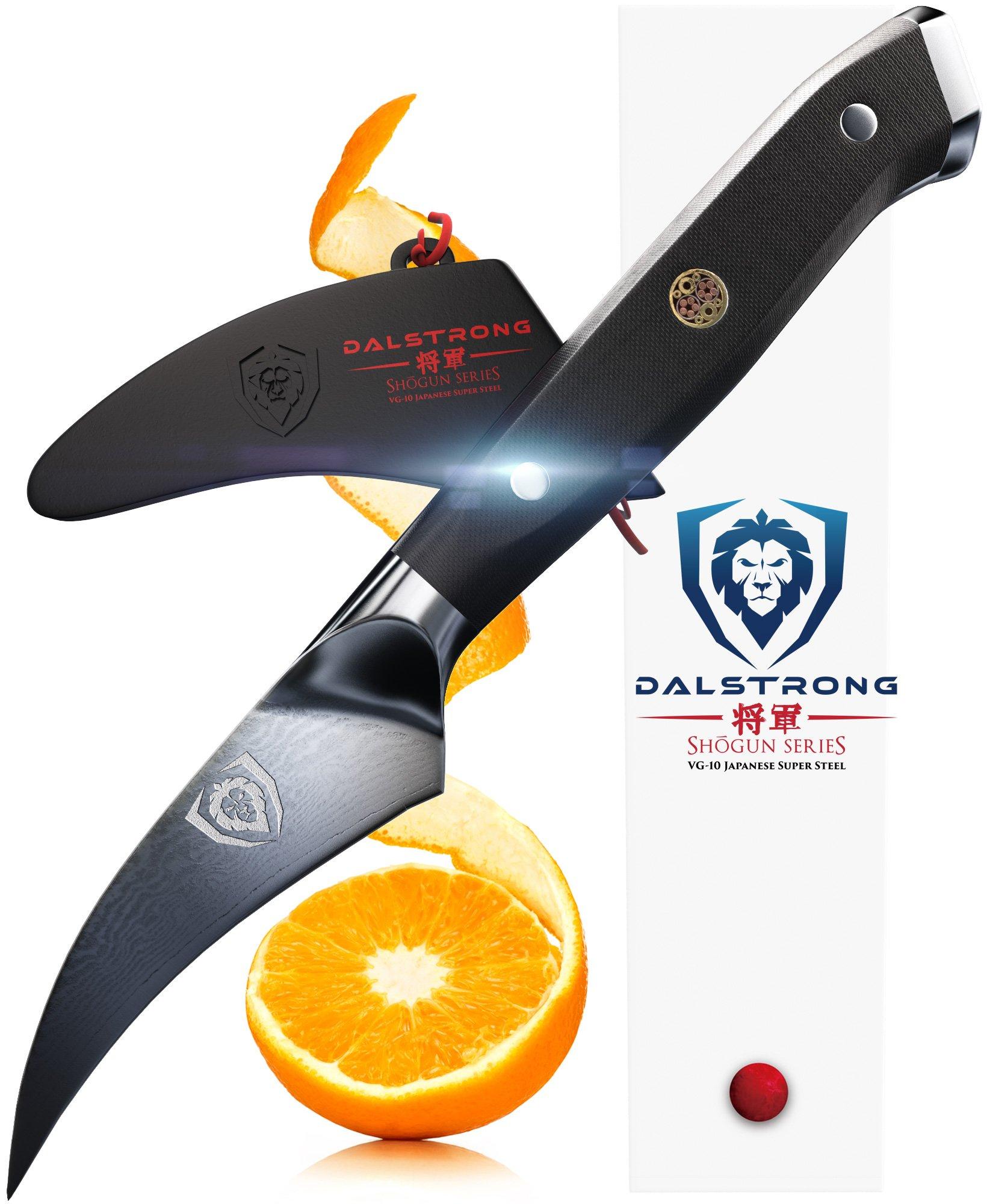 DALSTRONG Bird's Beak Paring Peeling Tourne Knife - Shogun Series - Japanese AUS-10V - Vacuum Heat Treated - 3'' Peeler - Guard