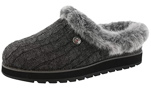 BOBS from Skechers Women's Keepsakes Ice Angel Slipper, Charcoal, 7 M US