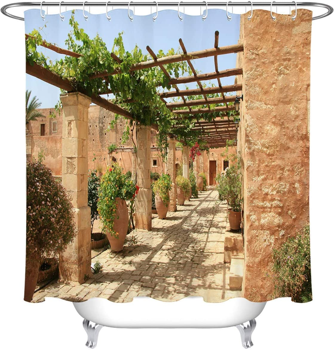 TGSCBN Realistic European Summer Garden Scene Cortina de la Ducha ...