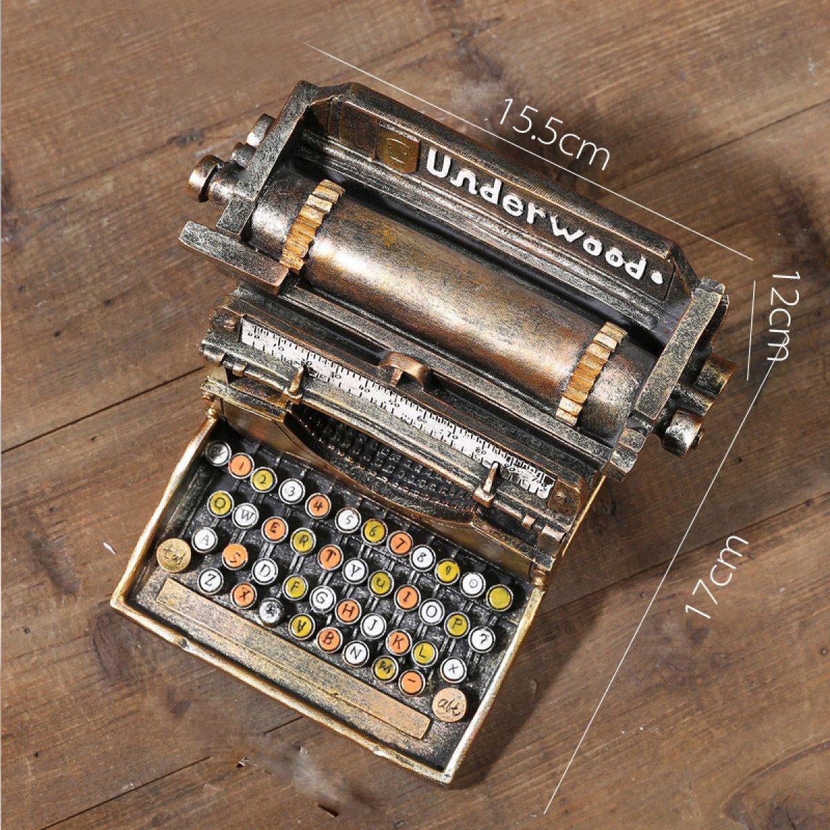 WKAIJCO Ornamentos Vintage Retro Máquina De Escribir Bares Creatividad Decoración Ropa Tienda Ventanas Muebles Fotografía Accesorios ,B: Amazon.es: Hogar